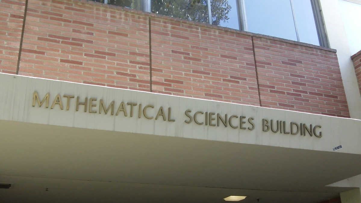 Brick exterior of the UCLA Mathematical Sciences building