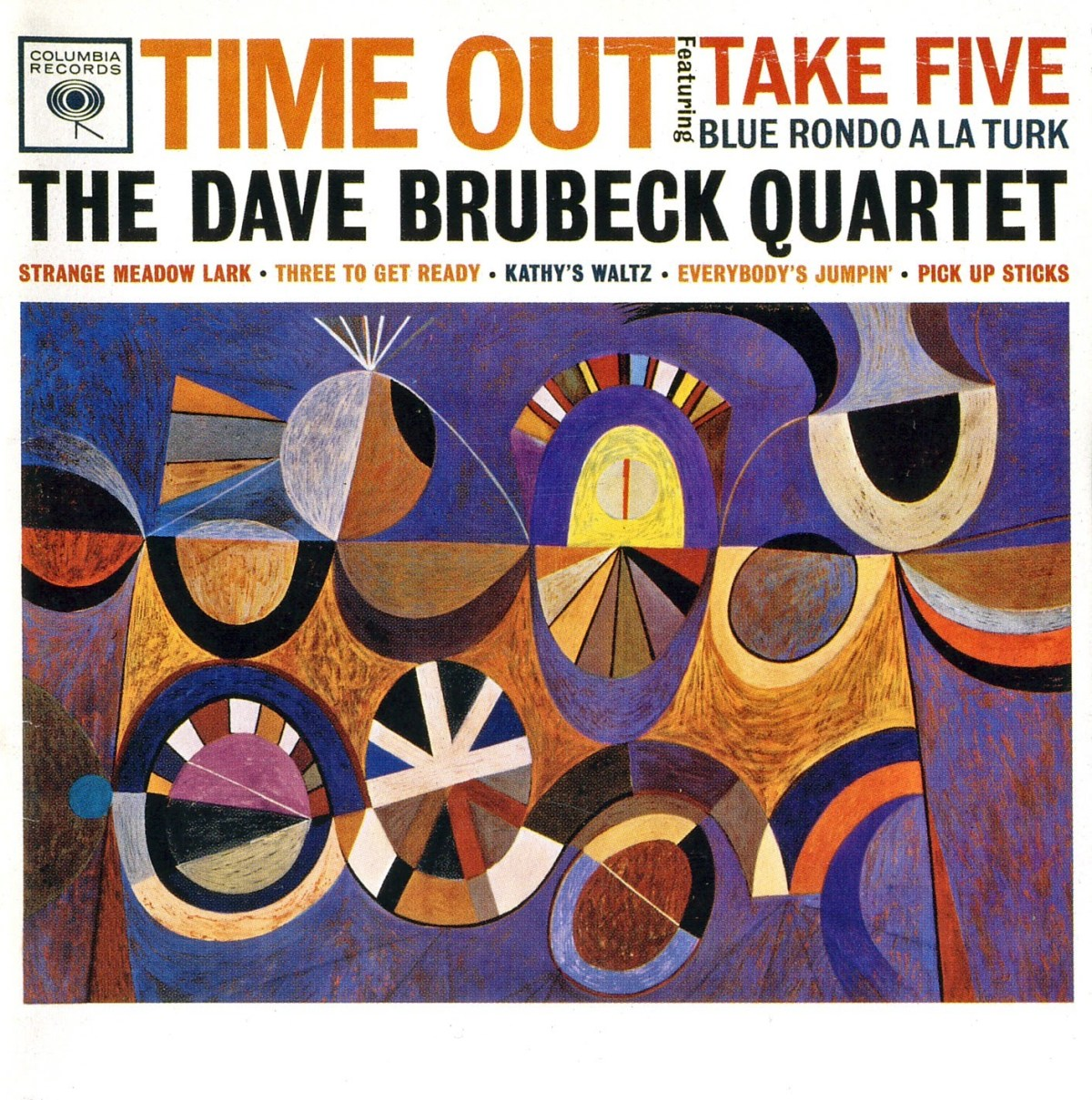 Album Art from Time Out by the Dave Brubeck Quartet featuring abstract art