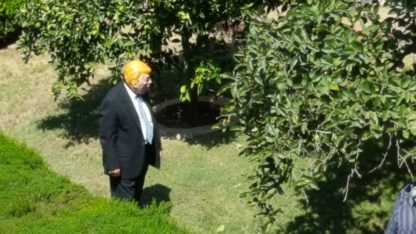 Trump upset about the illegals in the garden