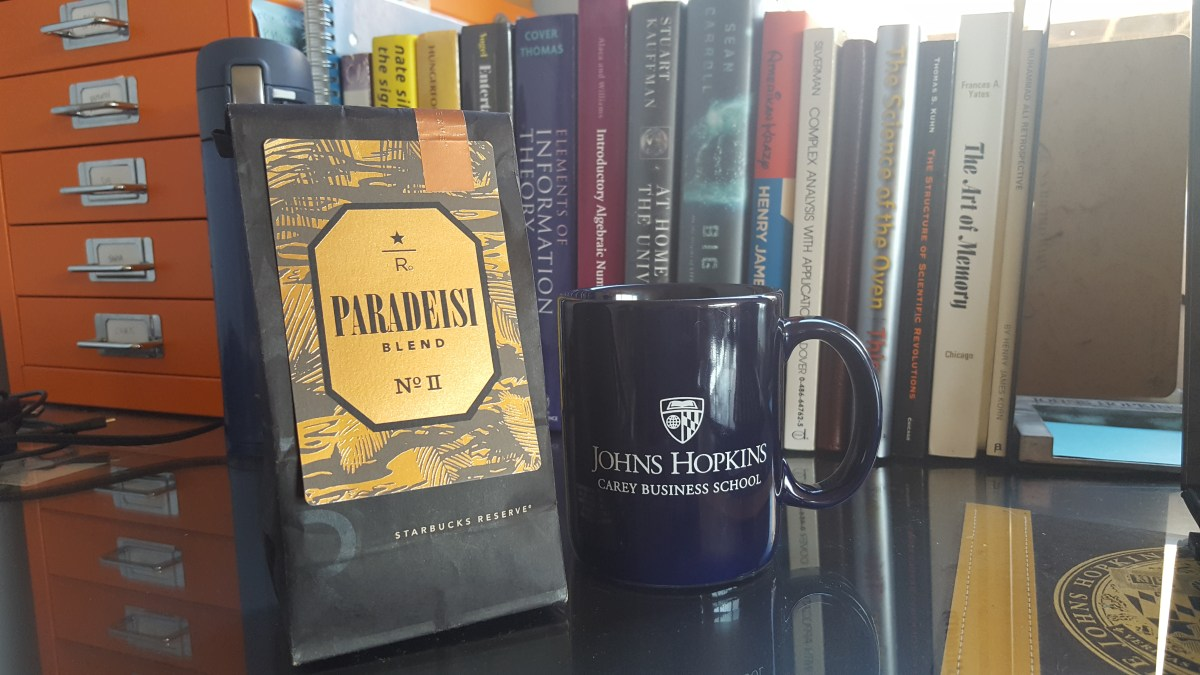 This morning's brew: Starbucks Reserve Paradeisi blend No. II