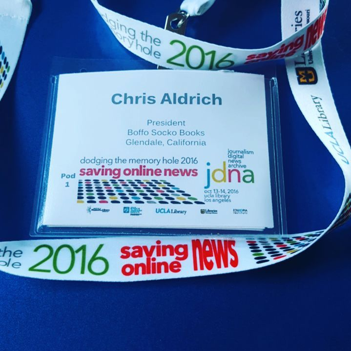 Name badge for Dodging the Memory Hole 2016
