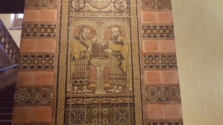 Architectural detail in Powell Library at UCLA