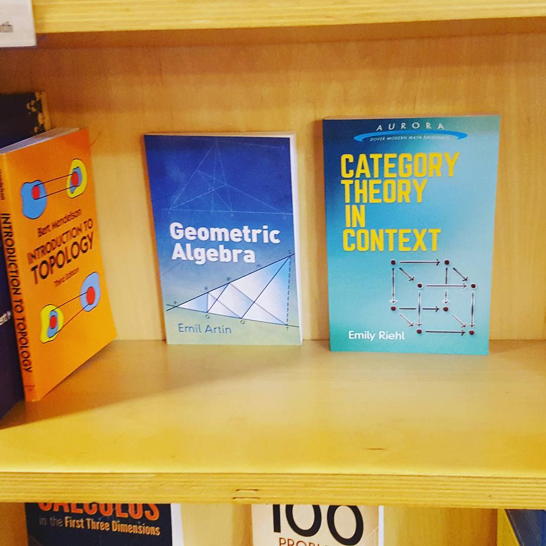 Emily Riehl's new category theory book has some good company. It's a beautiful book by the way