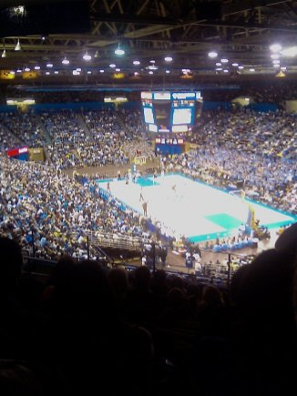 02/07/2009 UCLA is spanking Notre Dame on an early rainy morning basketball game.
