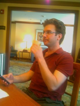 05/30/2009 Breakfast with @viperwriter on the day of his wedding.