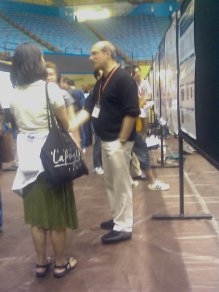 06/26/2009 Hanging out with Nobel Prizewinner Martin Chalfe in front of my poster on GFP.