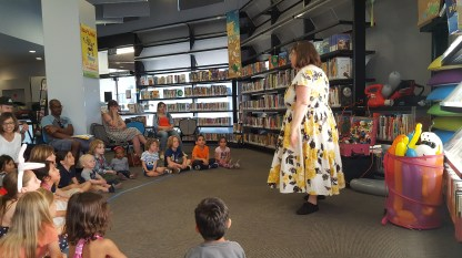 Annie Bannanie at story hour