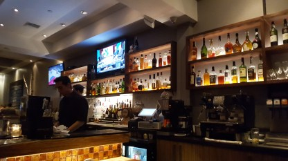 The bar at Montrose Town Kitchen & Grill