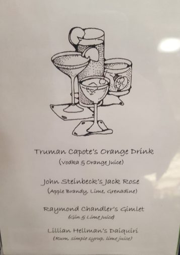 Cocktail selection at the Glendale Central Library