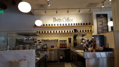 Serving Peet's Coffee