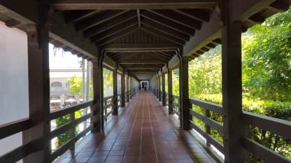 The bridge past the pool