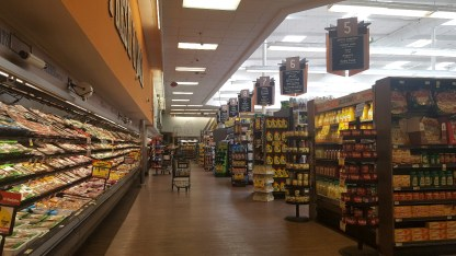 The rear aisle of Ralphs in Glendale on Colorado