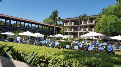 Langham Hotel brunch poolside