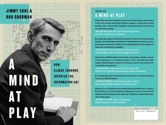 📗 Started reading A Mind at Play by Jimmy Soni & Rob Goodman