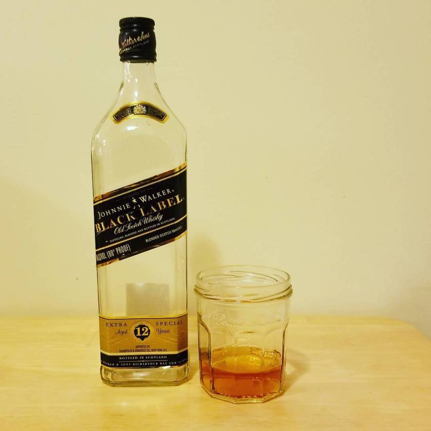 Packing day four: Johnny Walker Black 12