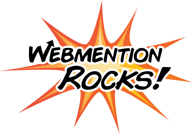 Webmention rocks logo