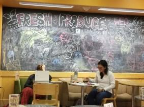 The chalkboard at Jamba Juice UCLA