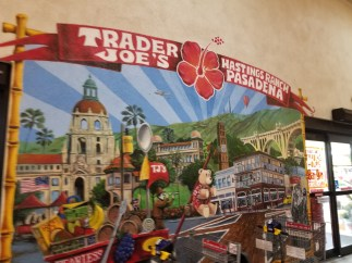 The mural on the entrance of Trader Joe's