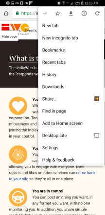 To bookmark a page, use the share icon and choose the URL Forwarder app