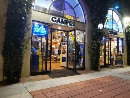 Exterior of UCLA Campus Store on Westwood Blvd.