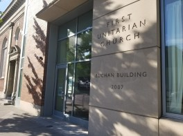 The entrance of the Eliot Center