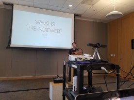 Aaron Parecki kicks off the 2018 IndieWeb Summit