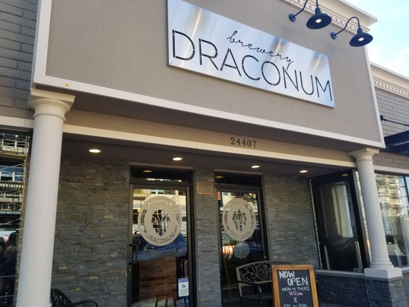 The front entrance of Brewery Draconum