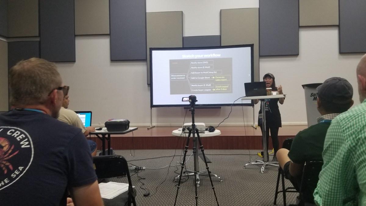 Sabrina presents at WordCamp