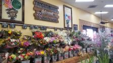 Flower display at Trader Joe's