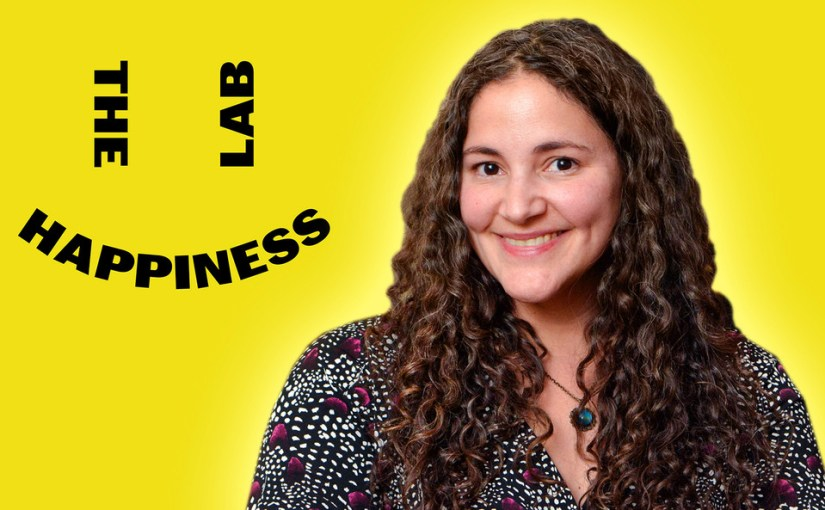 Happiness Lab logo with picture of Dr. Laurie Santos beside it