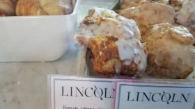 French Lemon and Ginger scones at Lincoln Bakery