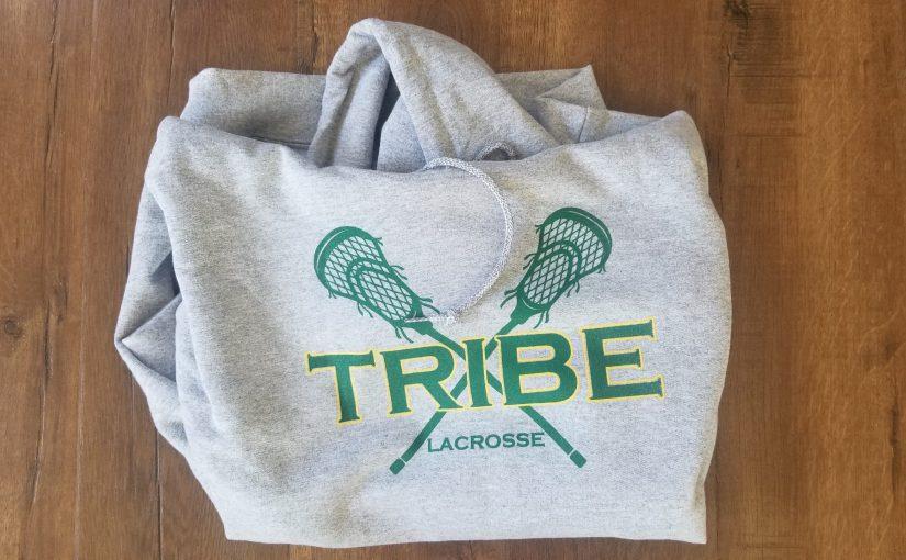 Tribe Lacrosse hooded sweatshirt, gray