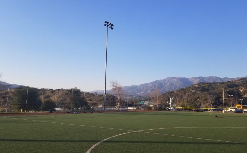 View of the mountains from Glendale Sports Complex, Field #4