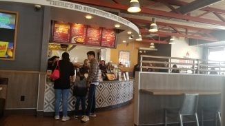 Line at the counter of The Habit