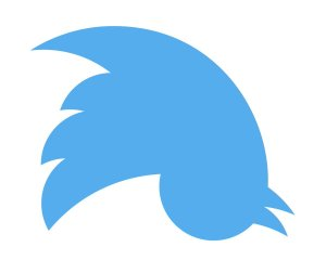 Upside down Twitter Logo