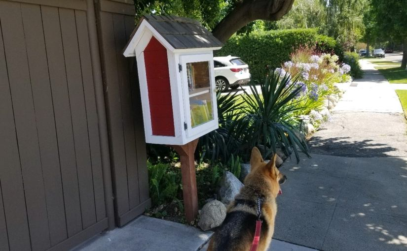 Red and white Little Free Library
