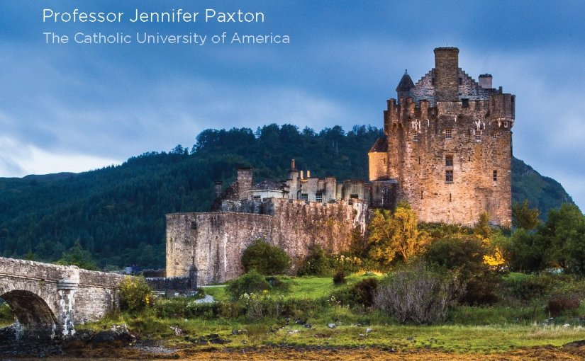 Image of a Celtic castle and bridge with the course title superimposed