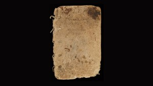 Tattered looking paper notebook from 1600's