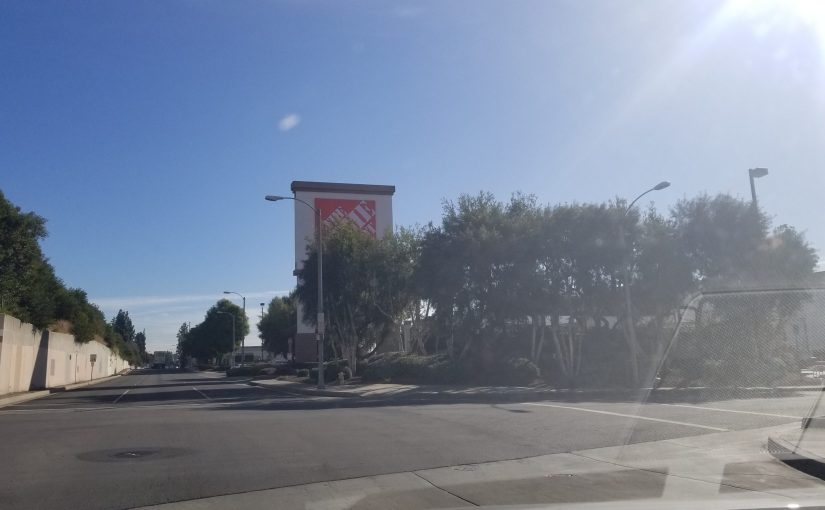 veiw of Home Depot from a block away