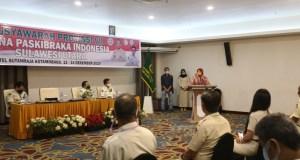 Sambutan Wali Kota Kotamobagu sekaligus membuka acara Musprov ke VII Purna Paskibraka Indonesia Sulut