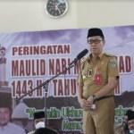 Bupati dan Wabup Bolsel Hadiri Peringatan Maulid Nabi Muhammad SAW 1443 Hijriyah