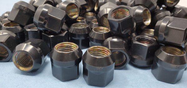 14mm x 1.5 OE Acorn Nuts Black