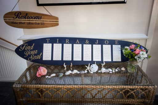 surf board seating chart