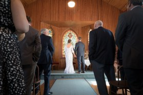 Ceremony at the Spray Beach Chapel in LBI