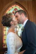 first kiss at the LBI Spray Beach Chapel