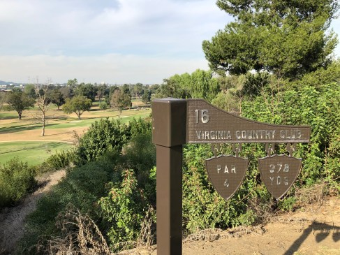 16th tee sign.