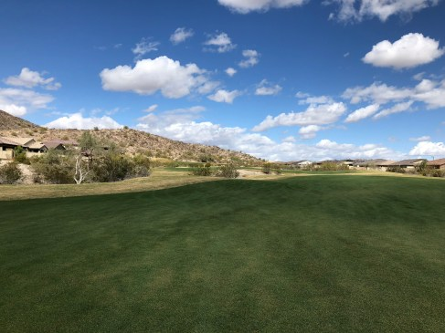 Par-5 16th has split fairways for a hop, skip and jump to the green.