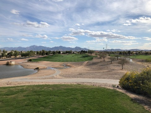 Elevated 9th tee (only real elevated spot on course).