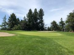 13th green view.