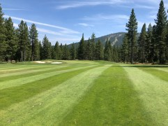 7th approach with Northstar ski slopes in background.